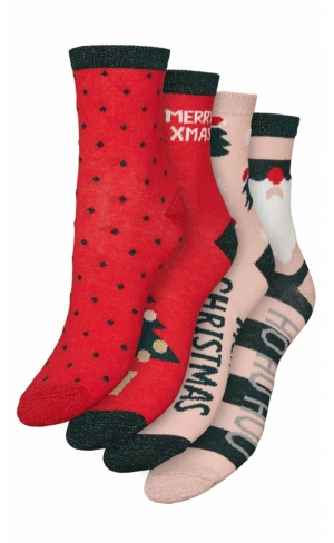 snowflake socks giftbox logo