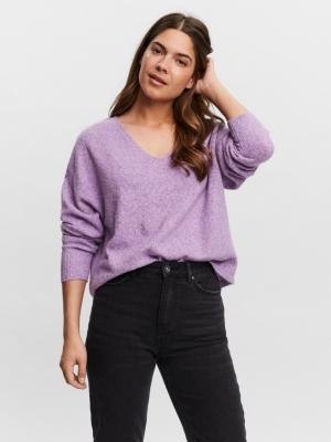 Doffy v-neck blouse hyacinth
