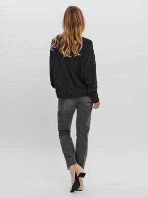 Doffy v-neck blouse black