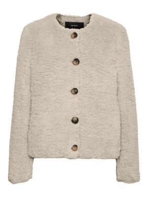 Cozymanda short teddy jacket logo