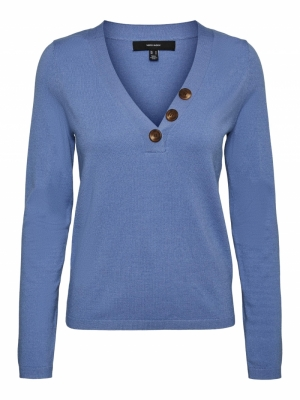 Karis v-neck button blouse logo