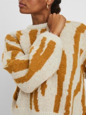 Zelma o-neck jacquard blouse logo