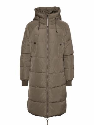 Aura long padded jacket logo