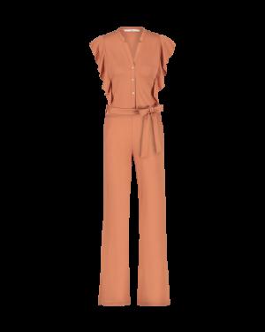Mailina jumpsuit orange. logo