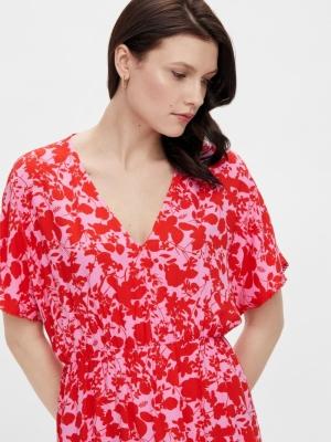 Sannia midi dress. Fuchsia pink