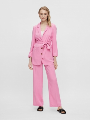Serena wide pants. fuchsia pink