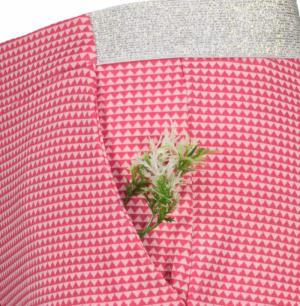 Trousers fuchsia logo