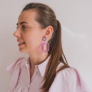 Lucille grape earrings. paars