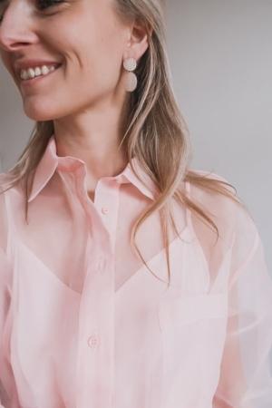 Sophie earrings. peach