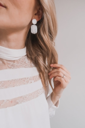 Camille cloud earring. wit