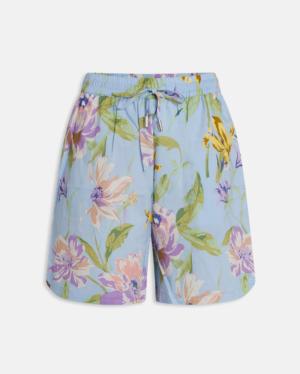 Ezza shorts blue flower logo