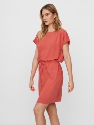 Sasha bali short dress Spiced coral
