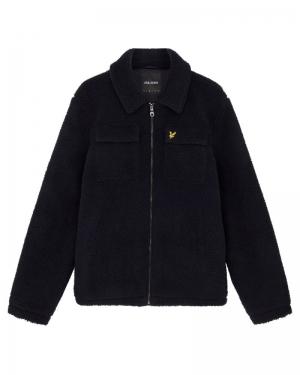 Collared Pile jacket logo