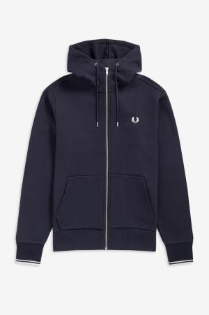 Hoodie zip sweatshirt logo