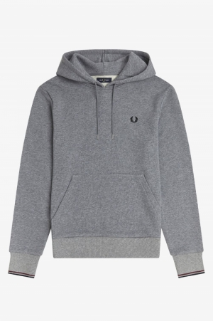 Tipped hooded sweat logo