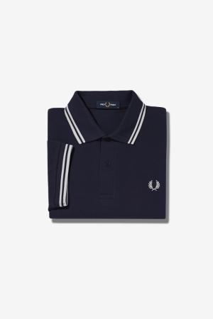 Twin tripped shirt Navy/white