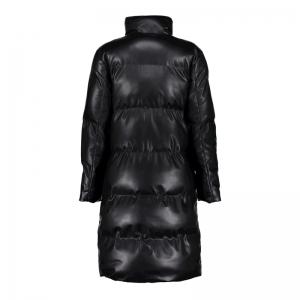 Long puffer jacket PU black