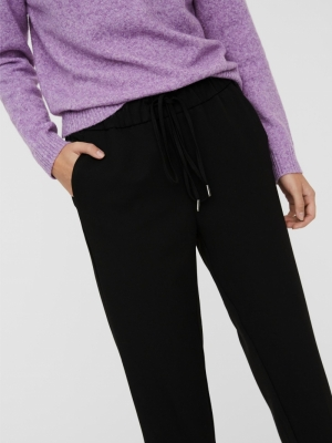 maya losse string pant black