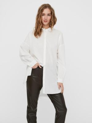 bina oversize shirt snow white