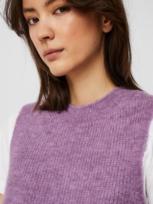 olina o-neck vest hyacinth