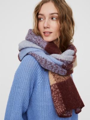 Anna long check scarf port royale