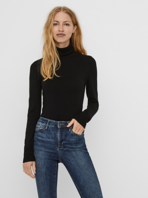 Glory rollneck blouse black