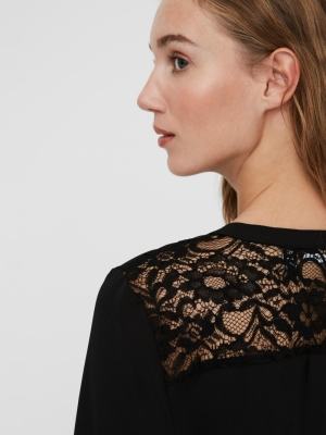 melisa lace top black