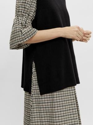 timmi knit vest black