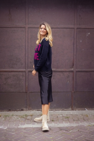 pastella hw midi skirt logo