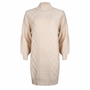 dress cable knit beige