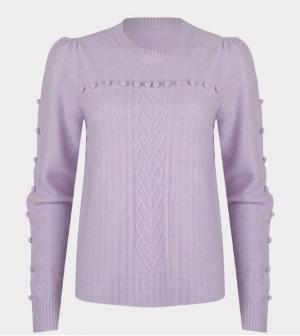 sweater R-neck sleeve dots logo