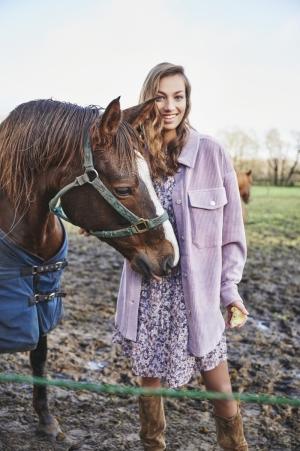 blouse oversized rib lilac