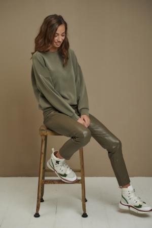 sweater oversized modal dusty green
