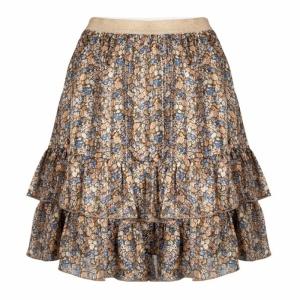skirt layers blurred flower print