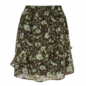 skirt ruffles abstract animal print