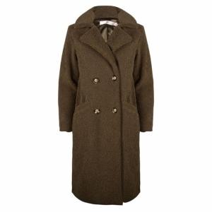coat long boucle logo