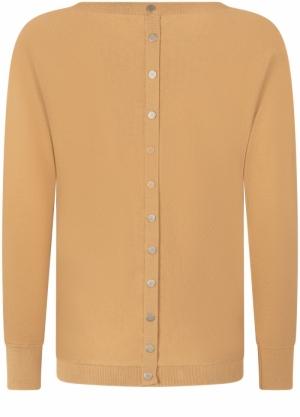 jumper basic buttons back light camel