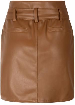 skirt mini PU hazelnut