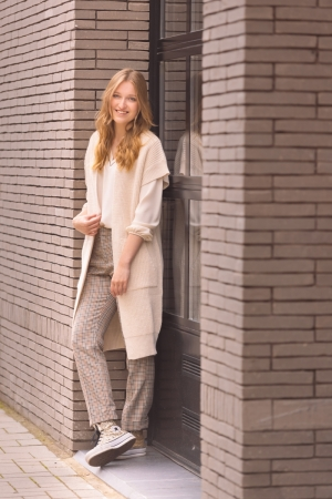 lange broek camel/noir