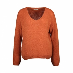 Josephine knit brick