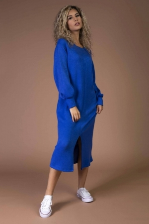 Aisha dress cobalt