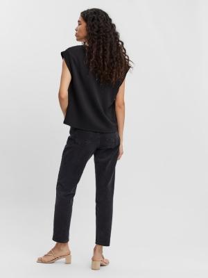 Silke Rib T-shirt black