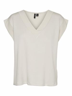 Silke Rib T-shirt Moonbeam