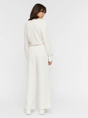 Silky detail pants. Moonbeam