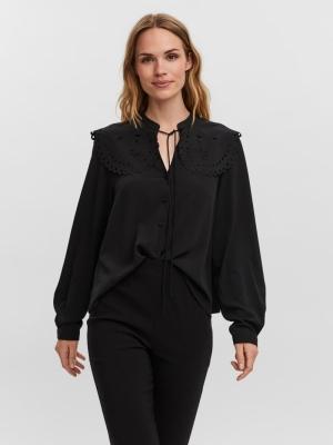 Vica collar shirt black