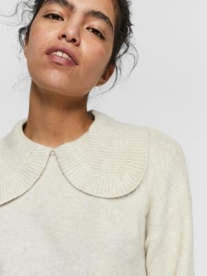 Doffy collar blouse birch