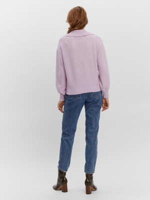 Doffy collar blouse lavendula