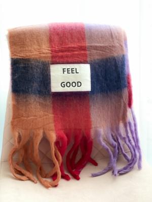 Maxi sjaal Feel good logo
