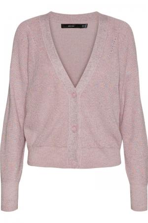 Newlex lurex ls short v-neck Parfait Pink